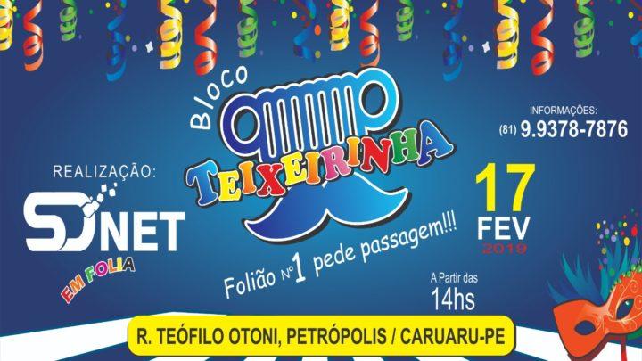 Bloco Teixeirinha em Caruaru neste domingo (17)