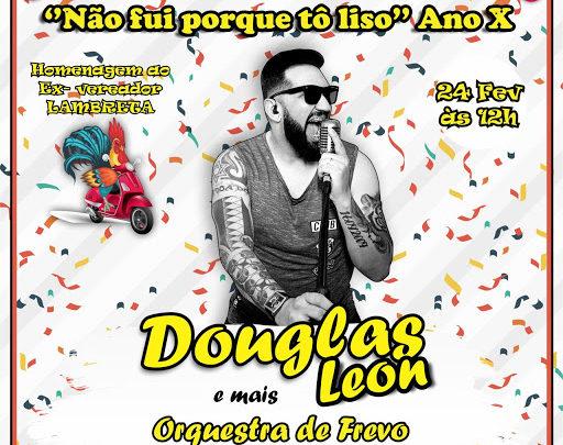 """Bloco """"Não fui Porque tô Liso"""" desfila domingo (24) em Caruaru"""