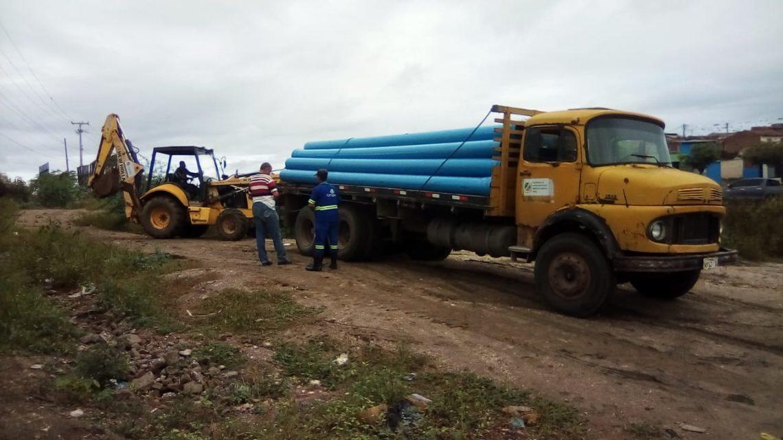 Começam as obras de ampliação para o abastecimento de água da Vila Canaã