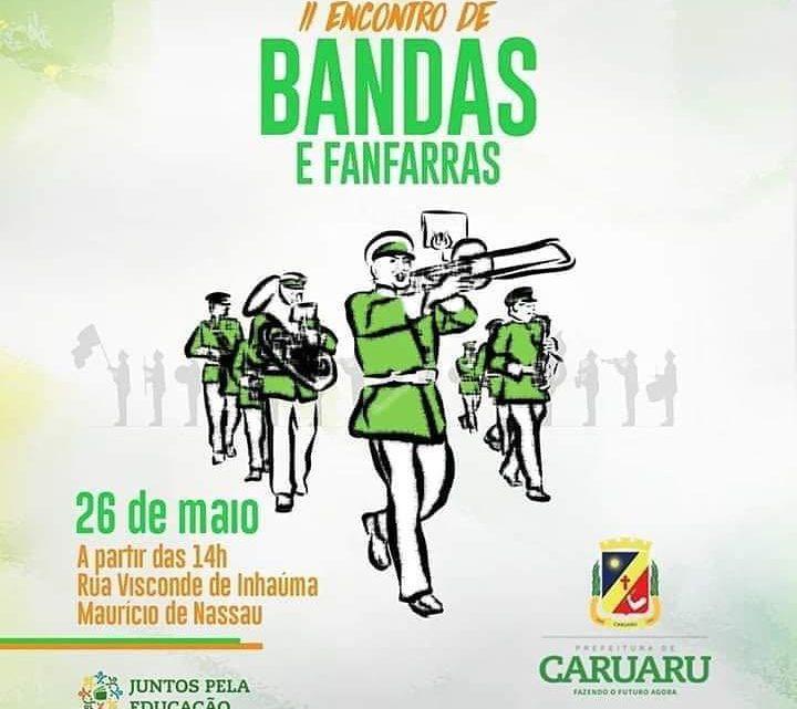 2° Encontro de Bandas e Fanfarras em Caruaru domingo (26)