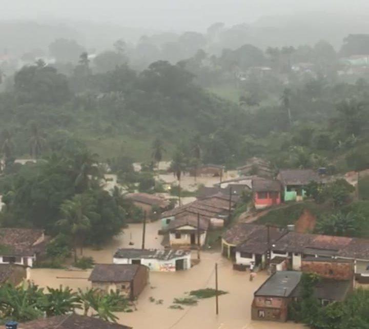 Fortes chuvas no litoral sul de Pernambuco nesta quarta (29)