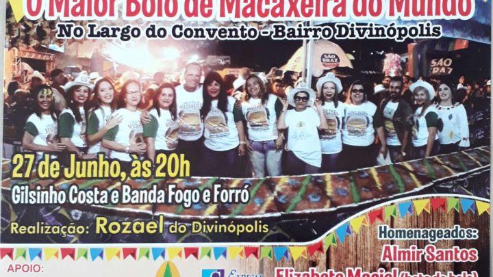 Maior Bolo de  Macaxeira do Mundo em Caruaru nesta quinta (27)