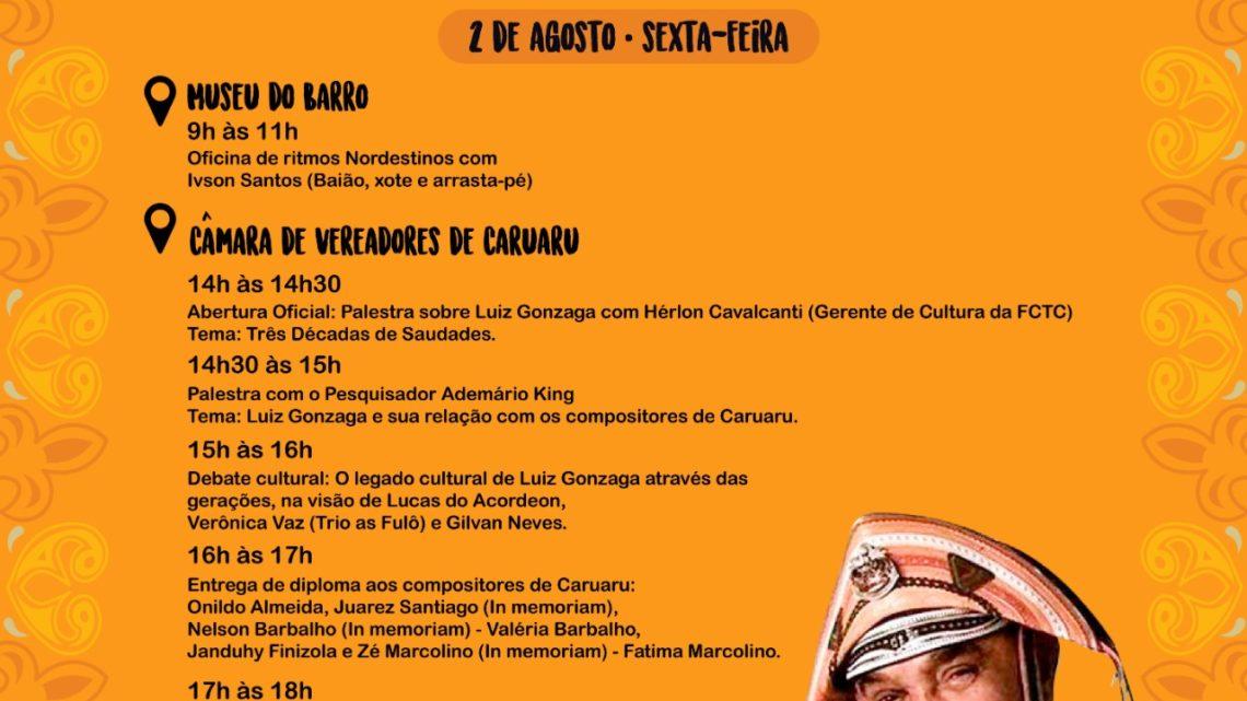 Confira a programação do II Tributo ao Rei do Baião Luiz Gonzaga em Caruaru