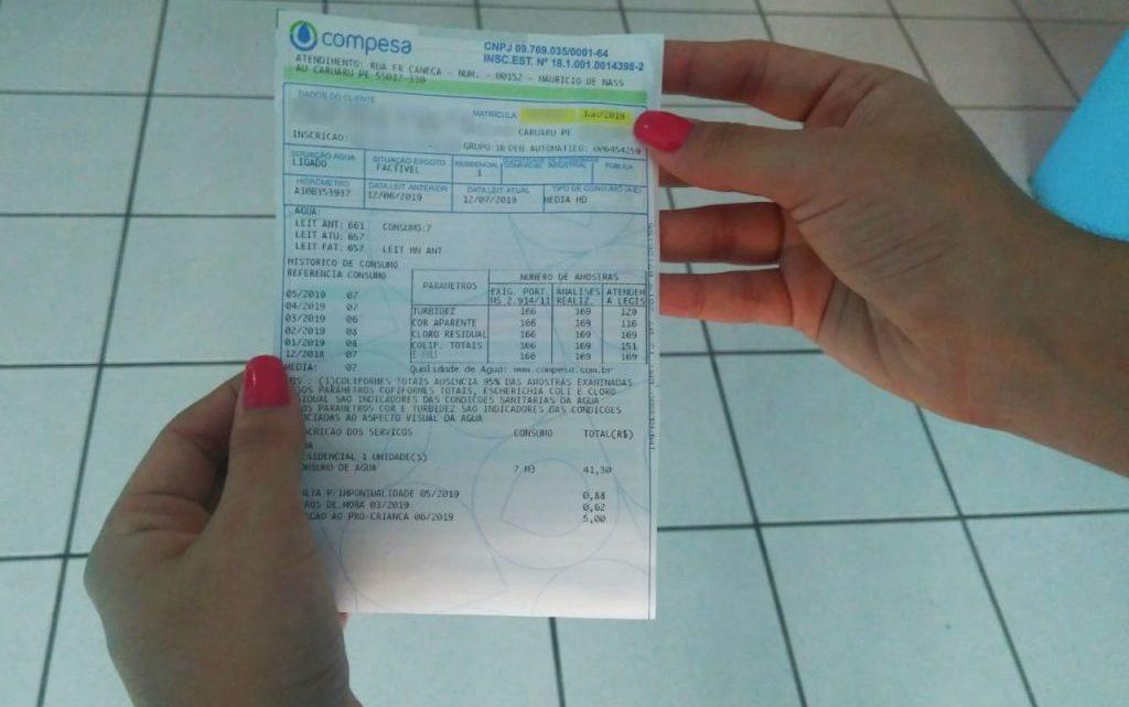 Aumento na conta de água a partir desta segunda-feira em Pernambuco