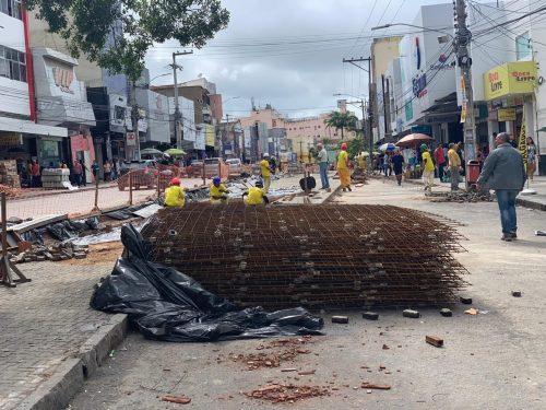 CDL cobra prazo de entrega das obras no Centro de Caruaru