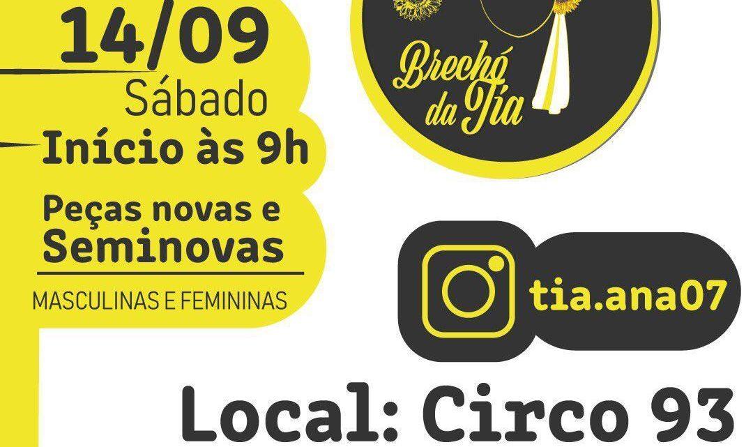 Brechó Solidário em Caruaru sábado (14)
