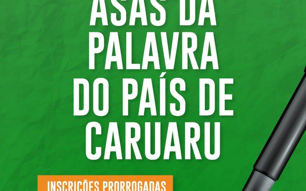 """Inscrições prorrogadas para o livro """"Asas da Palavra do País de Caruaru"""""""