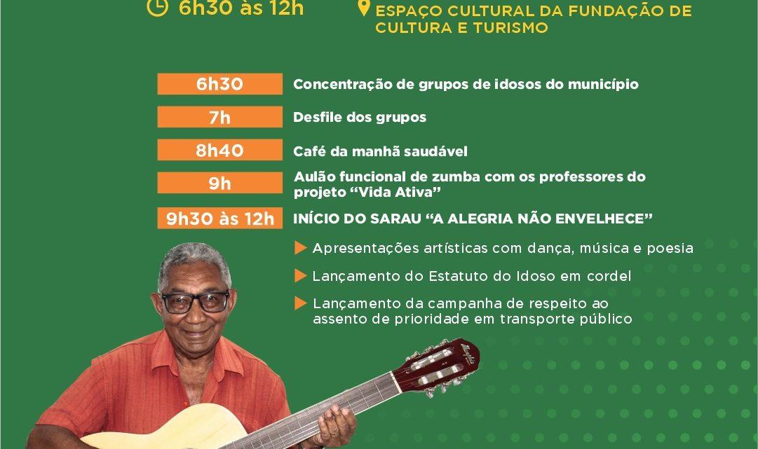 Dia Internacional do Idoso será celebrado com sarau e semana esportiva em Caruaru nesta terça (1º)