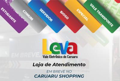 Loja do Leva passará a funcionar no Caruaru Shopping