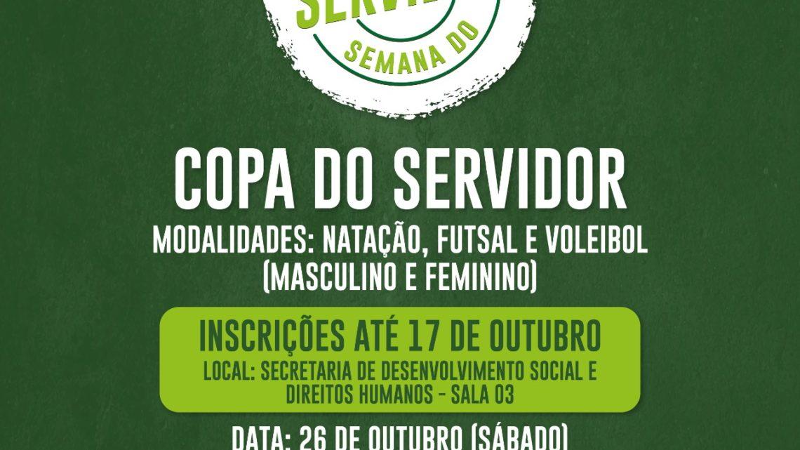 Inscrições abertas para a 1ª Copa do Servidor Municipal