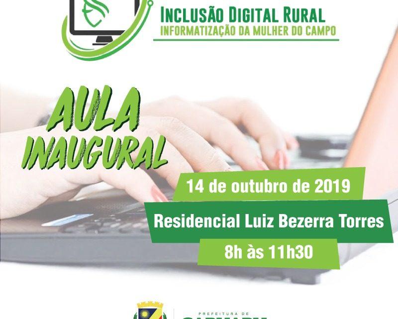 Projeto de inclusão digital para mulheres do campo será lançado em Caruaru