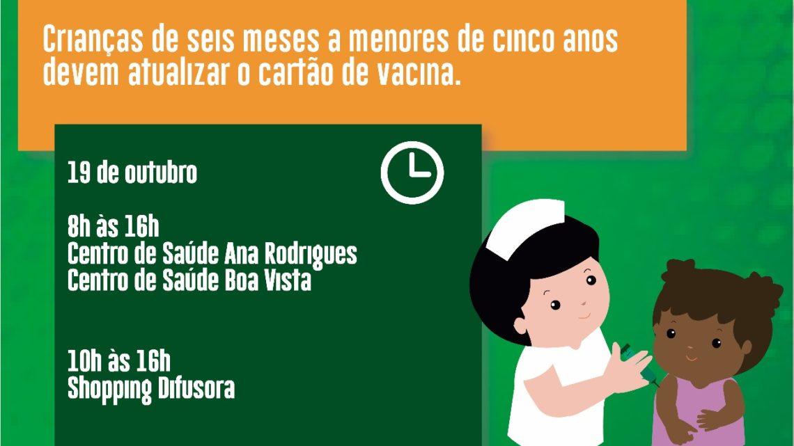 """Dia D"""" da Campanha Nacional de Vacinação contra Sarampo será no próximo sábado (19)"""