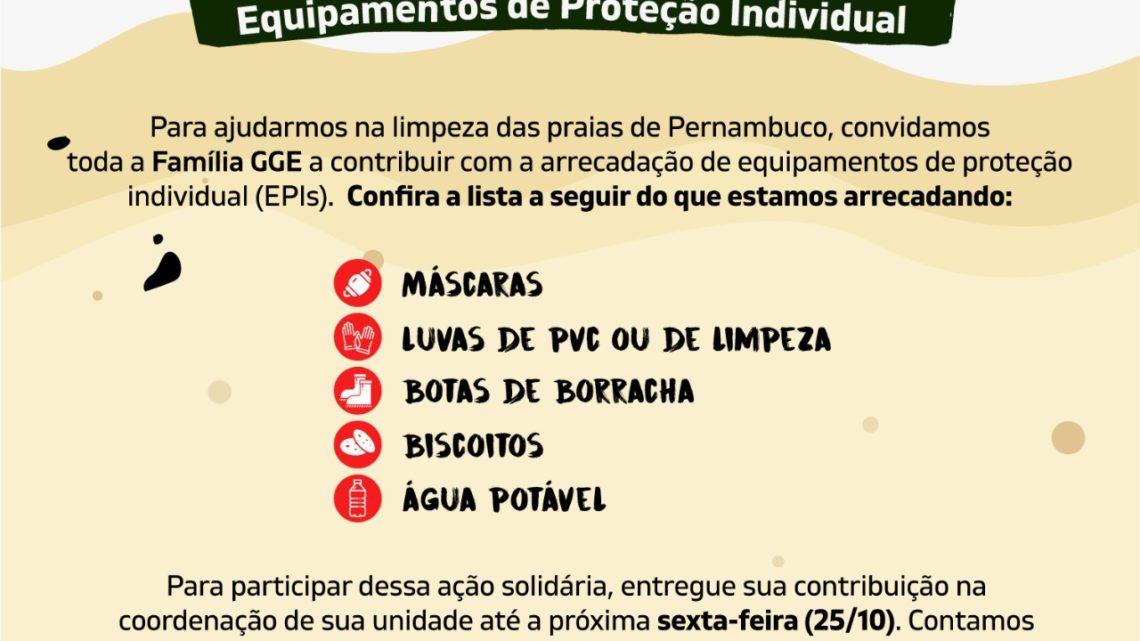 Colégio em Caruaru arrecada EPIs para voluntários na limpeza das praias de Pernambuco