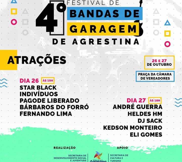 4° Festival de Bandas de Garagem será realizado neste fim de semana em Agrestina-PE