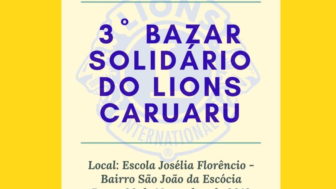 Bazar solidário com produtos a partir de dois reais no bairro São João da Escócia neste sábado (9)