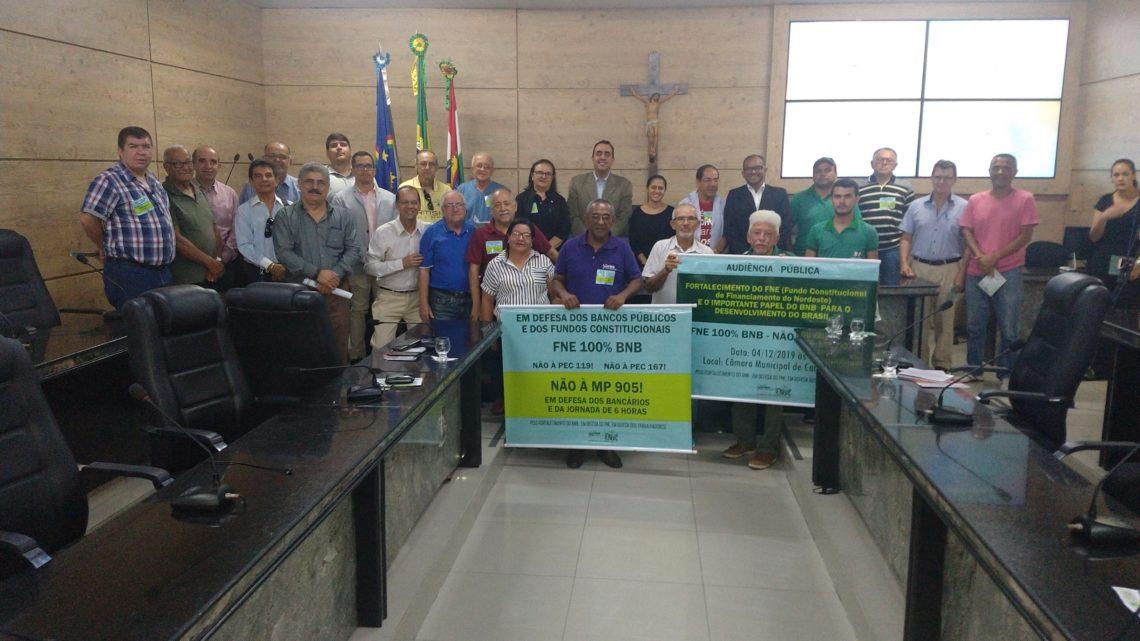 Futuro do Banco do Nordeste (BNB) foi discutido em audiência pública na Câmara de Caruaru