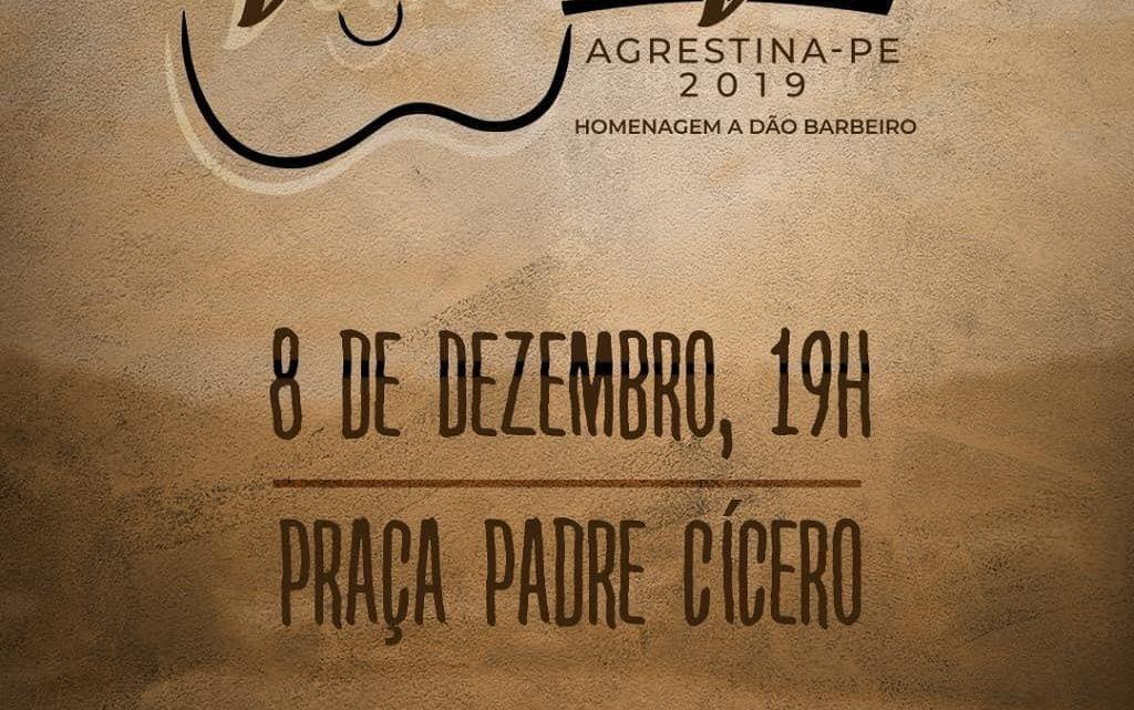 Agrestina realiza 5° Festival de Versos e Viola neste domingo (8)