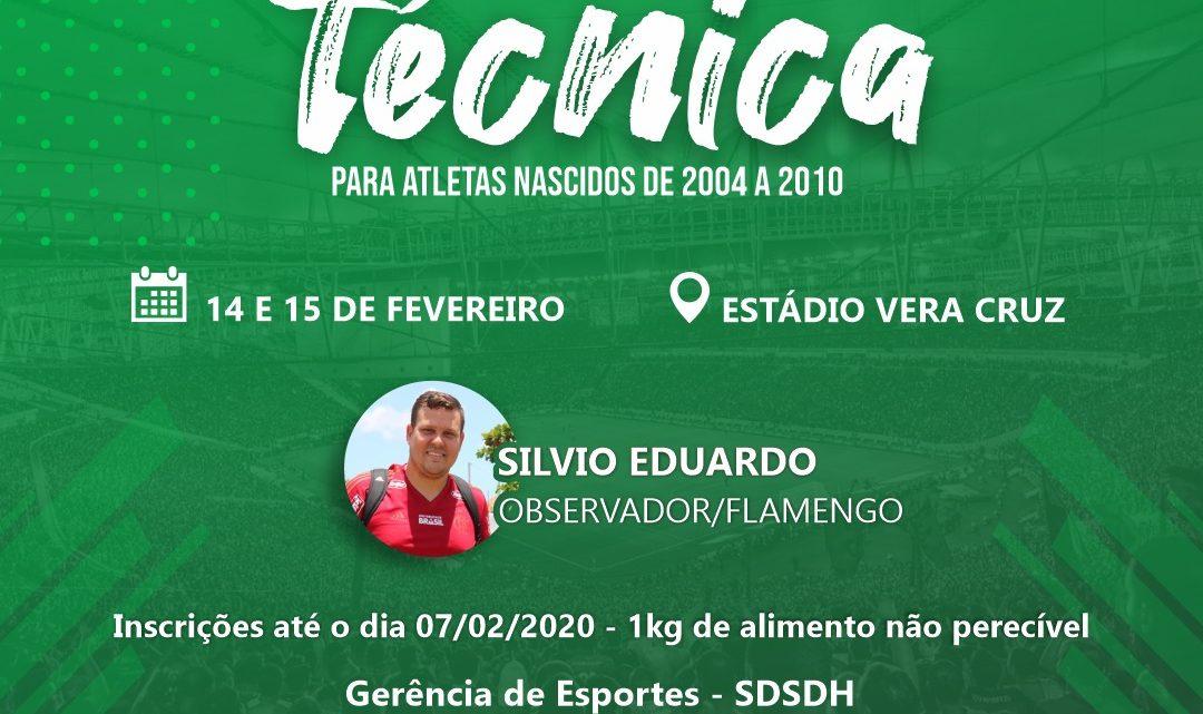 Jovens atletas de Caruaru serão avaliados por observador do Flamengo-RJ
