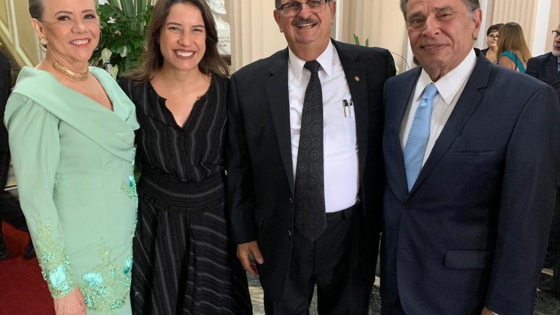 Raquel e João Lyra prestigiam posse do novo presidente do TJPE