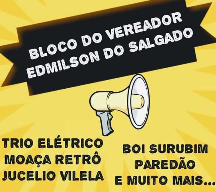 Bloco de Edmilson do Salgado em Caruaru neste domingo (16)