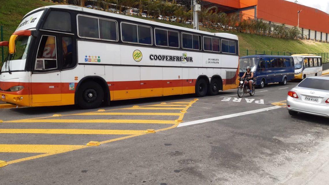Disponibilizadas vagas de estacionamento para ônibus na Feira da Sulanca de Caruaru