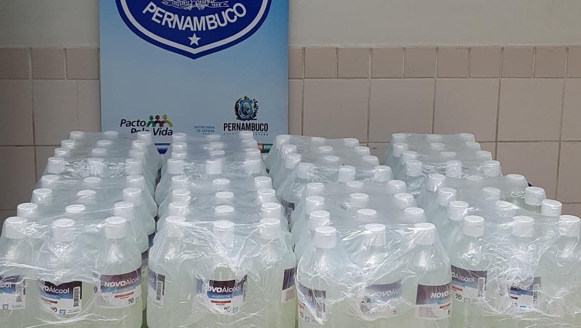 Álcool em gel falsificado apreendido e uma prisão em flagrante em Belo Jardim