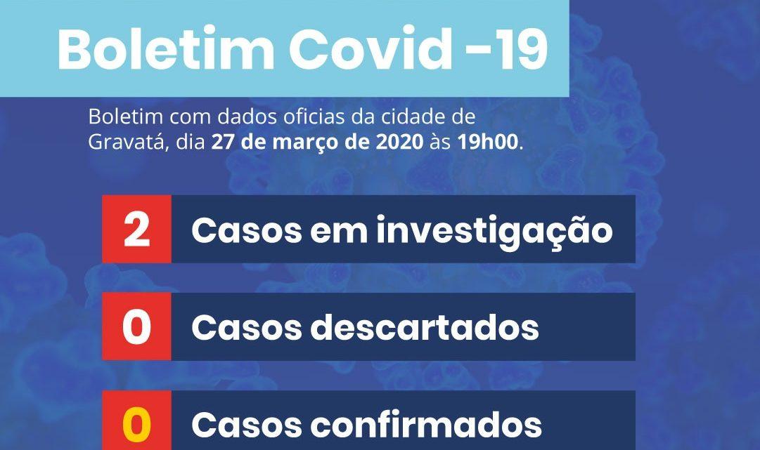 Segundo caso suspeito de Covid-19 em Gravatá