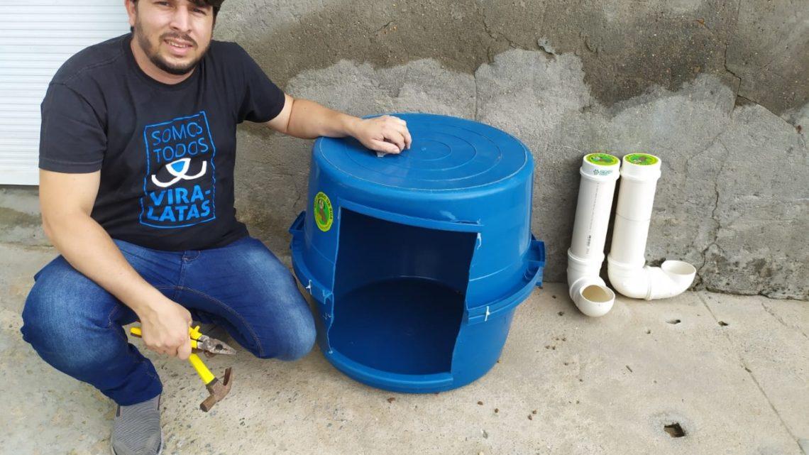 Vereador Fagner disponibiliza comedouros e abrigos para animais de rua