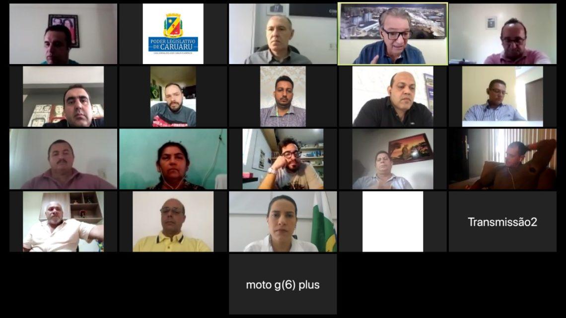 Vereadores participam de videoconferência para devolução de 100 mil à Prefeitura de Caruaru