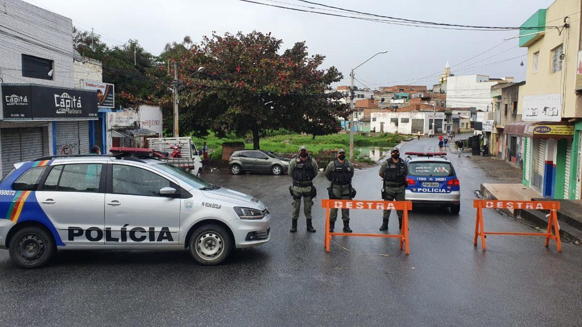 Operação Sulanca da PM em Caruaru faz isolamento do Parque 18 de Maio e vias adjacentes