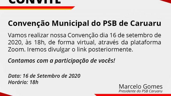 PSB Caruaru define data da Convenção para as Eleições Municipais