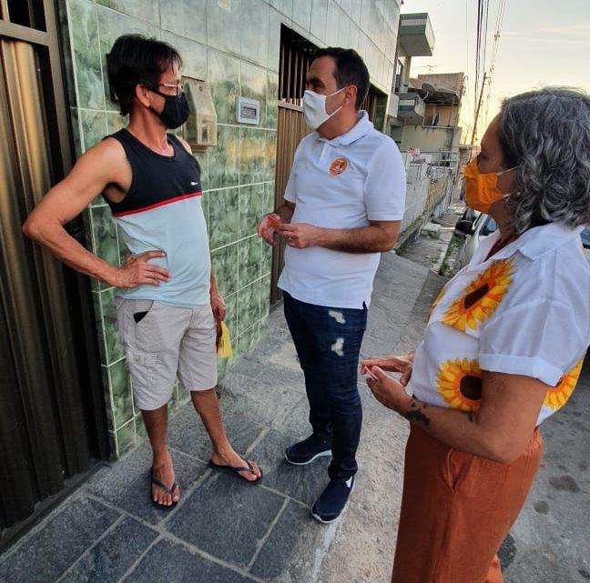 Marcelo Gomes e Ailza Trajano visitam moradores do bairro Santa Rosa que pedem ações pela segurança