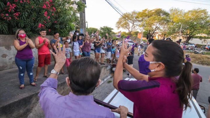 Raquel Lyra realiza novo Giro 45 por bairros de Caruaru e visita comunidades rurais