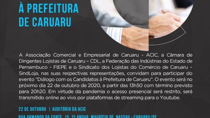 Entidades de classe promovem evento com principais candidatos à Prefeitura de Caruaru