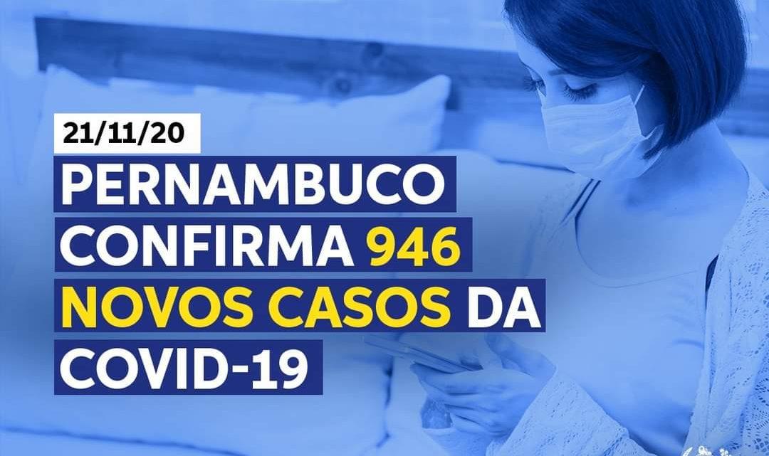 Secretaria de Saúde-PE divulga 946 novos casos de covid-19 neste sábado (21)