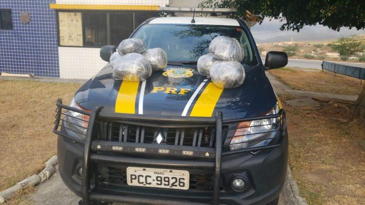 PRF apreende 6,6 kg de maconha na Br 232, em São Caitano