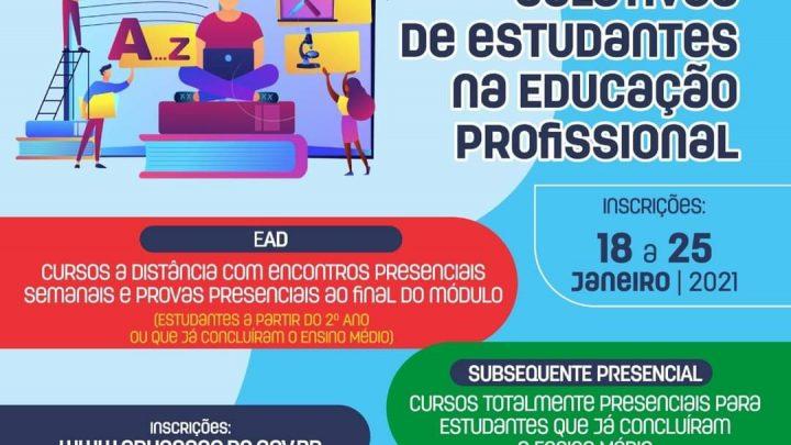Abertas inscrições para cursos técnicos integrados ao ensino médio na Secretaria de Educação e Esportes-PE