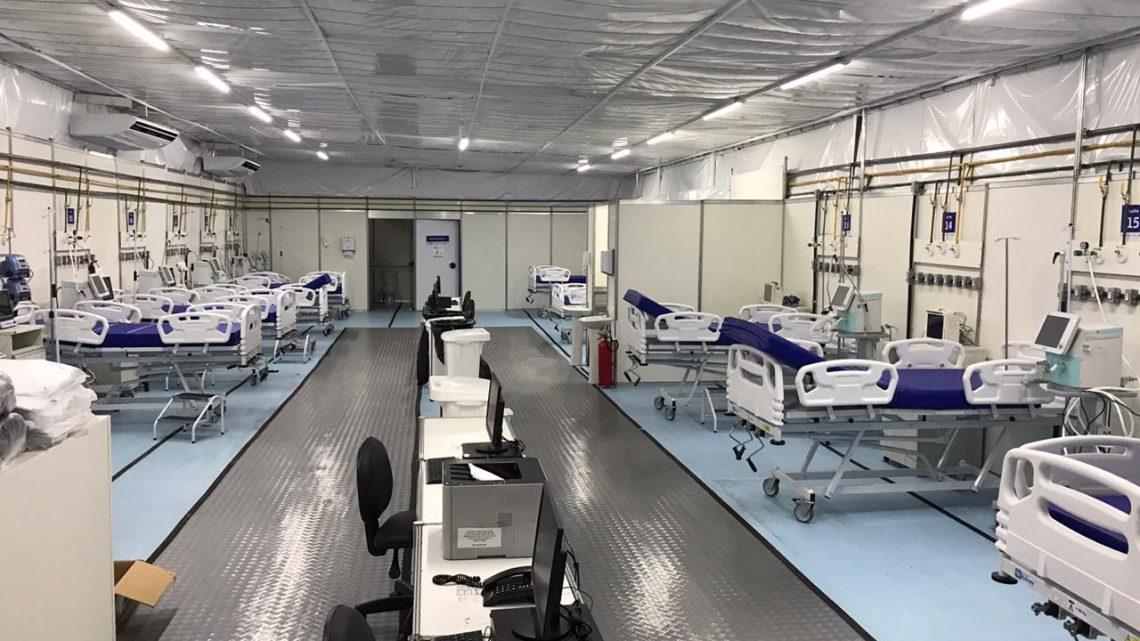 Hospital de Campanha de Caruaru abre mais 10 leitos de UTI Covid-19