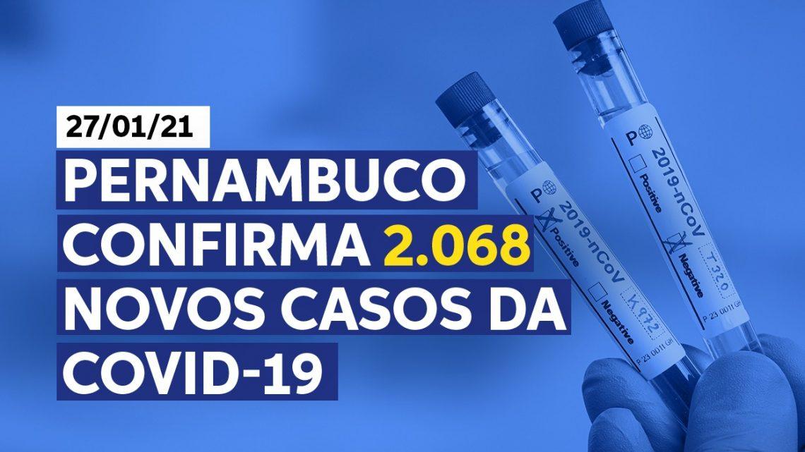 Secretaria de Saúde-PE divulga 2.068 novos casos de covid-19 no Estado
