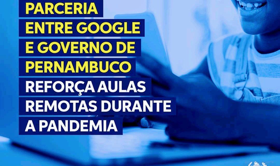 Parceria entre Google e Governo de Pernambuco reforça aulas remotas durante a pandemia