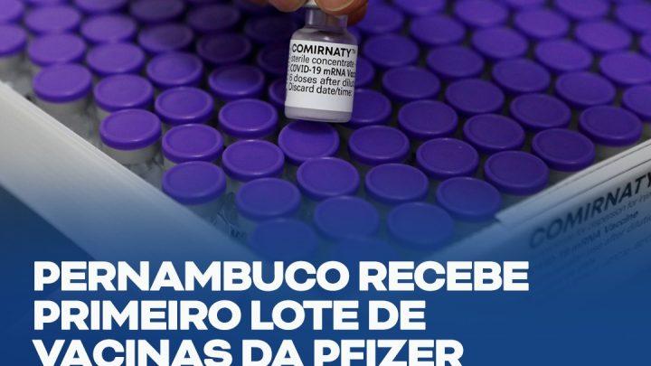 Pernambuco recebe primeiro lote de vacinas da Pfizer/BioNTech