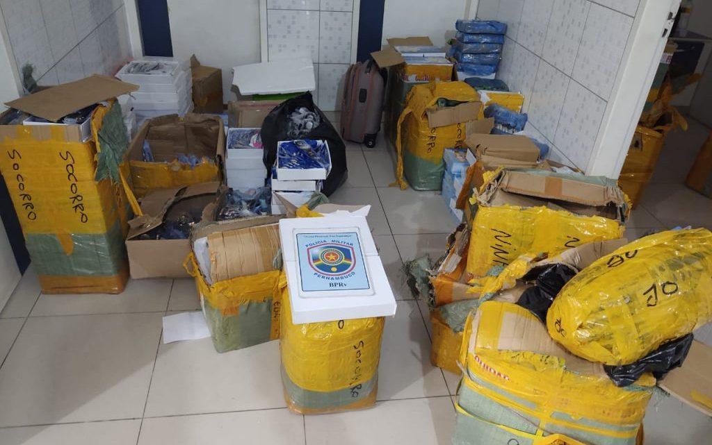 Polícia apreende em Caruaru carga de produtos contrabandeados e prende 3 suspeitos