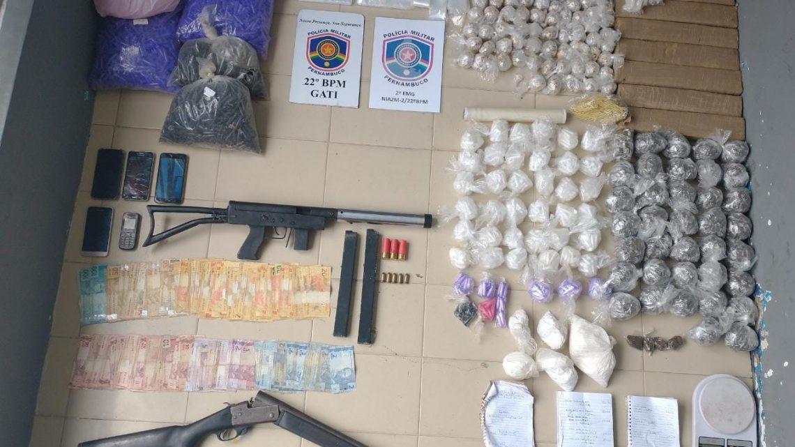 Perigosa quadrilha é capturada no Agreste-PE com armamento pesado e drogas