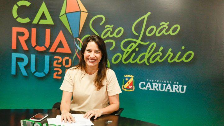 Prefeita de Caruaru anuncia o São João Solidário 2021 e novos benefícios para trabalhadores