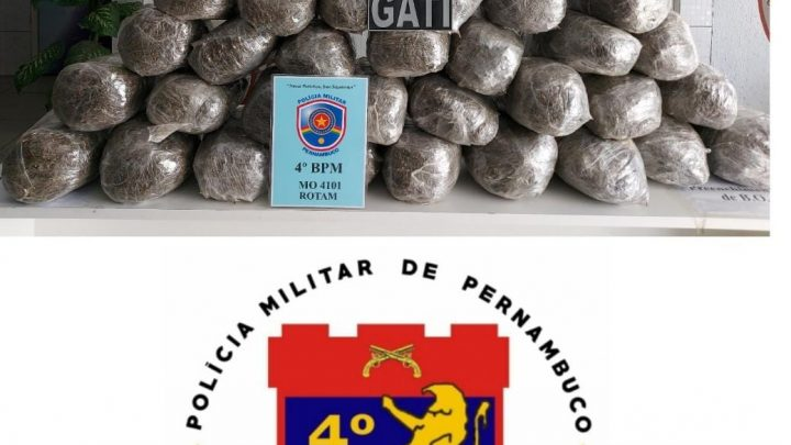 Policiais do 4° BPM prendem homem com 36kg de maconha em Caruaru