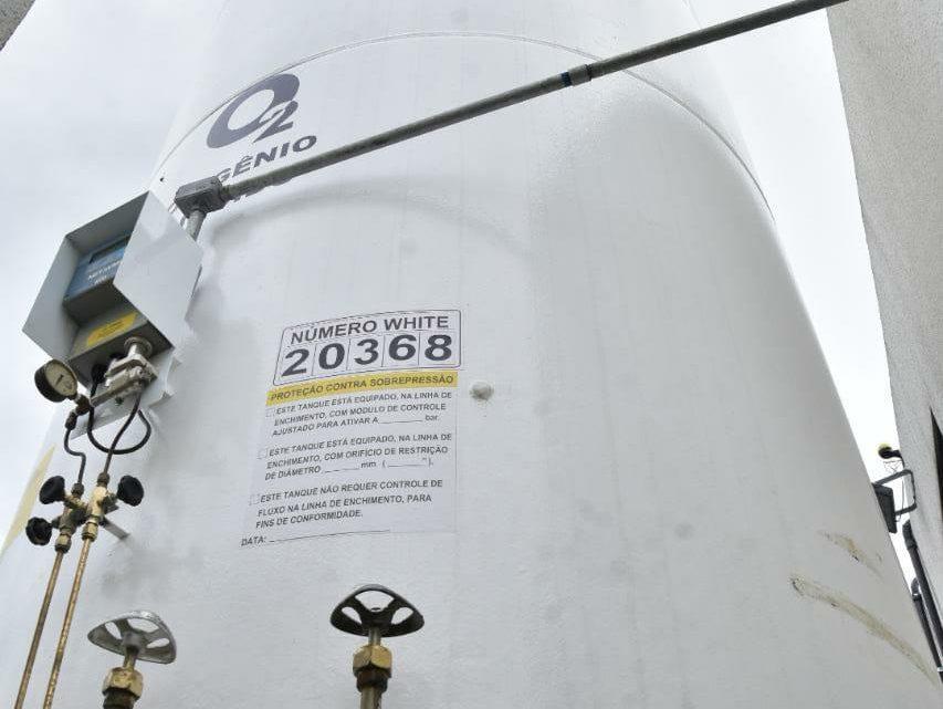 Novo tanque de oxigênio é instalado em hospital de Caruaru