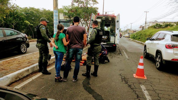 Motociclista fica ferido após acidente em Caruaru