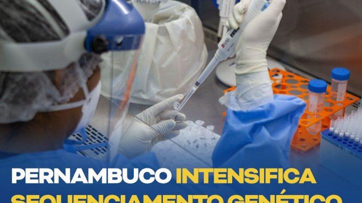 Pernambuco intensifica sequenciamento genético das variantes da covid-19