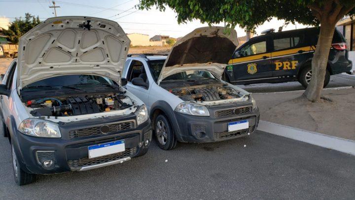Motorista é detido com réplica de pistola e caminhonete roubada na BR 232