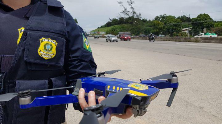 PRF usa drones para mapear fatores de risco de acidentes em Pernambuco